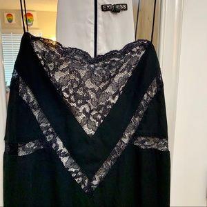 Express Black w/ Lace Spaghetti Strap Dress